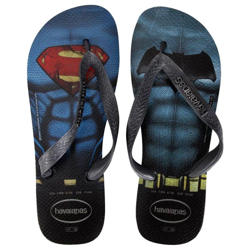Chinelo Havaianas Masculino Batman Vs Superman Preto com Cinza Chumbo