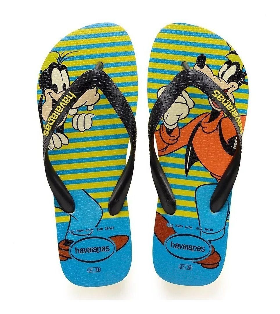 Chinelo Havaianas Unissex Disney Stylish Pateta Amarelo Neon