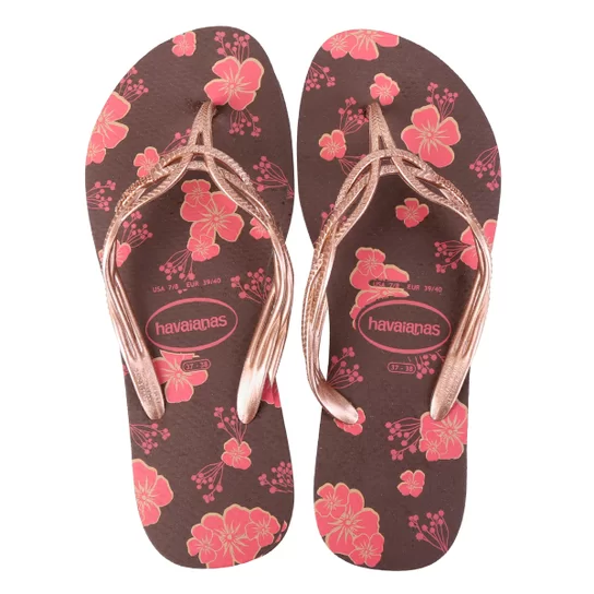 Chinelo Havaianas Feminino Flash Sweet Flores