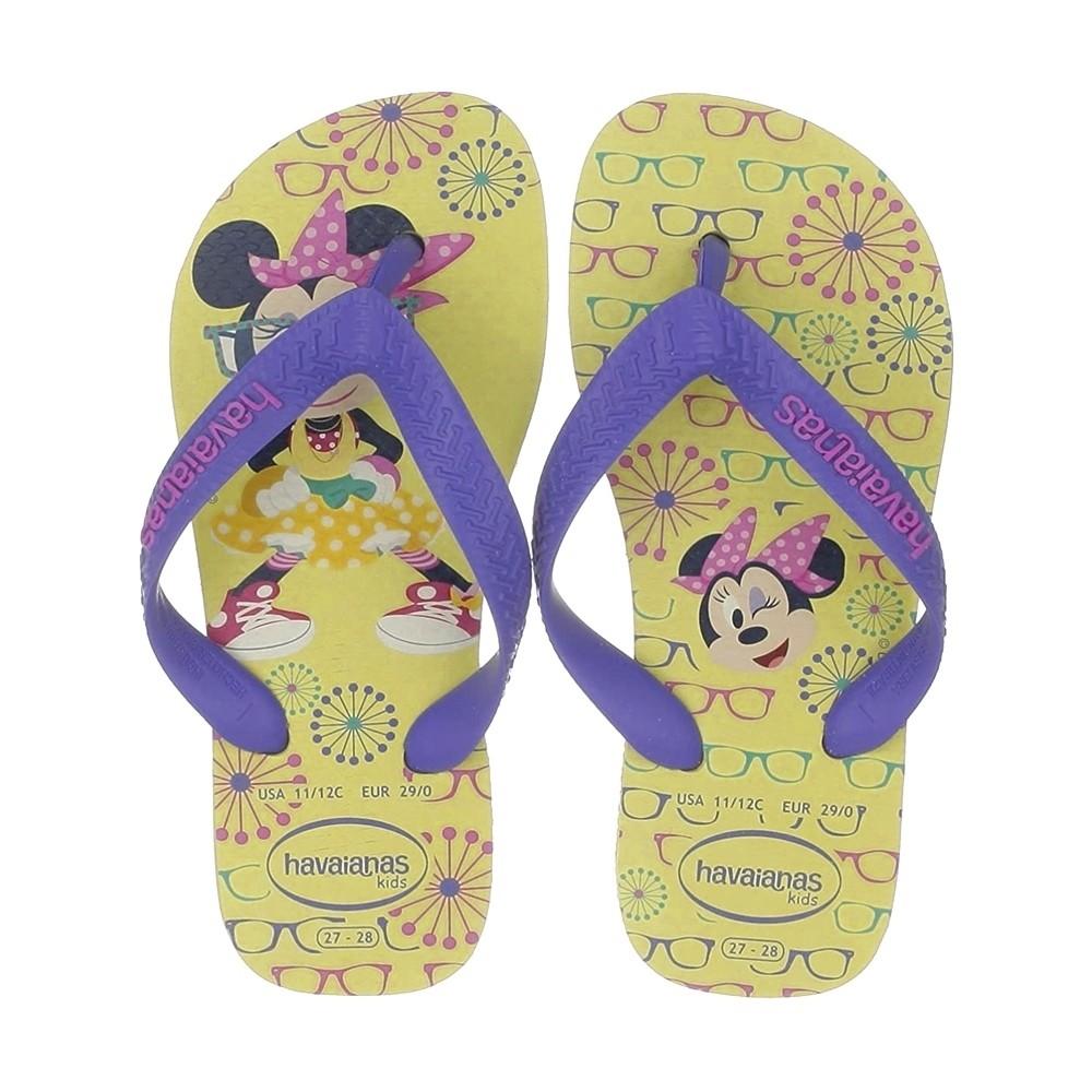 Chinelo Havaianas Feminino Kids Minnie Amarelo Bebe