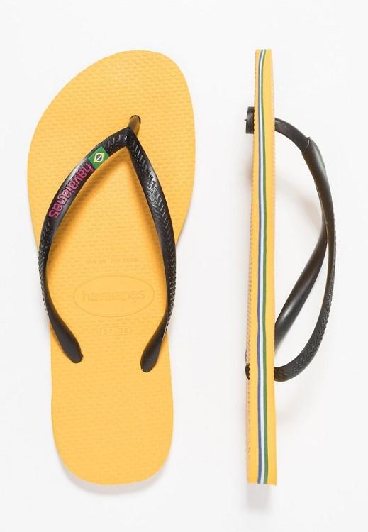 Chinelo Havaianas Feminino Slim Brasil Amarelo Banana