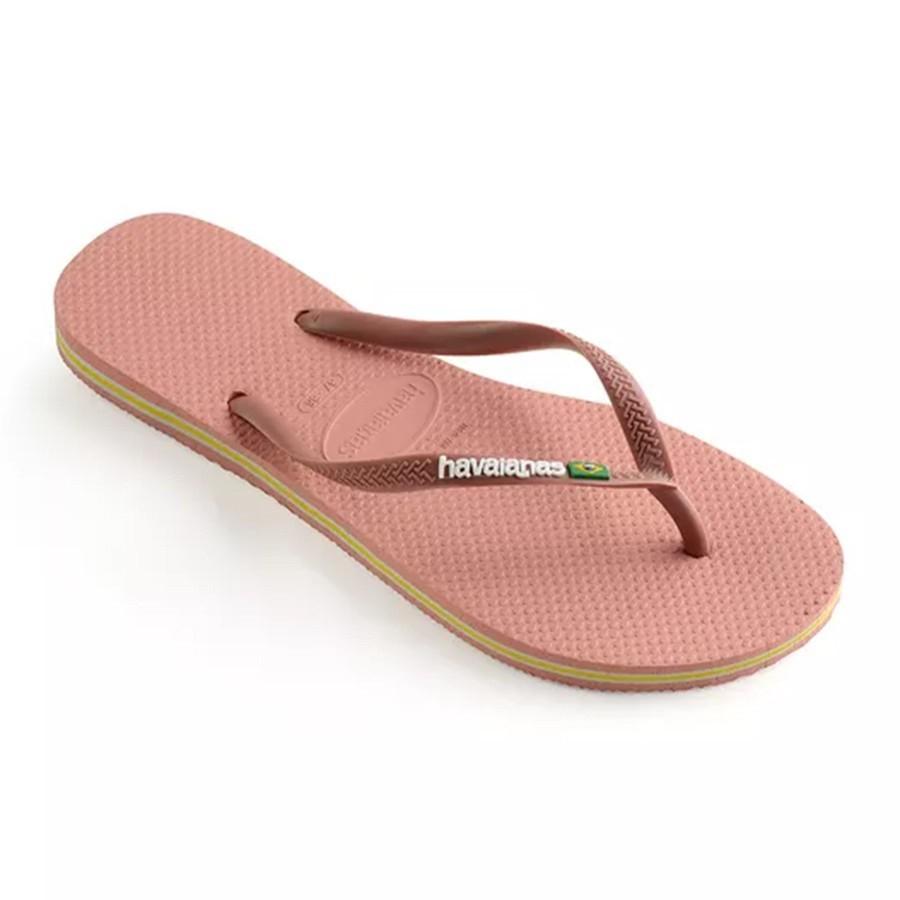 Chinelo Havaianas Feminino Slim Brasil Nude Rosa