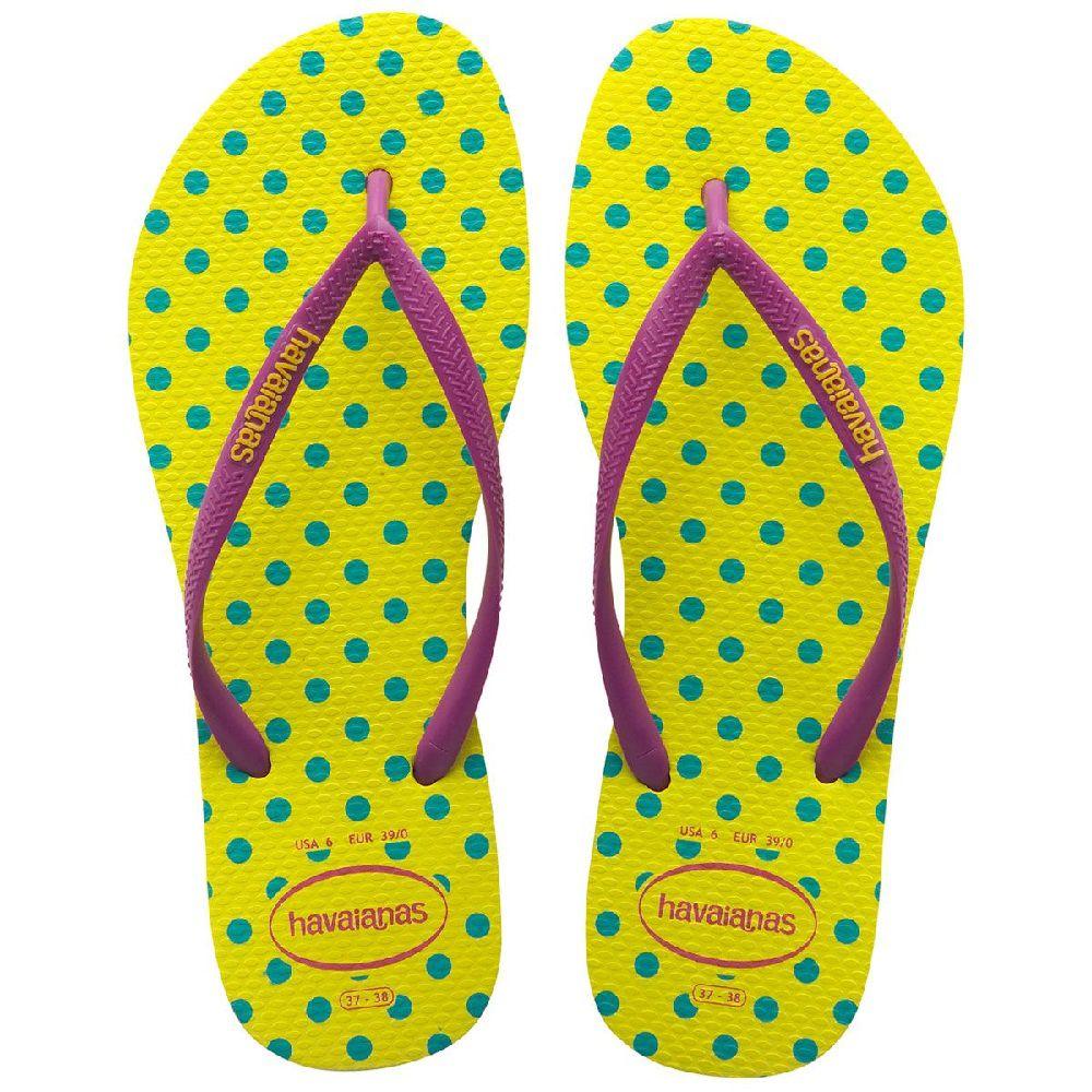 Chinelo Havaianas Feminino Slim fresh Pou-Up Amarelo Neon