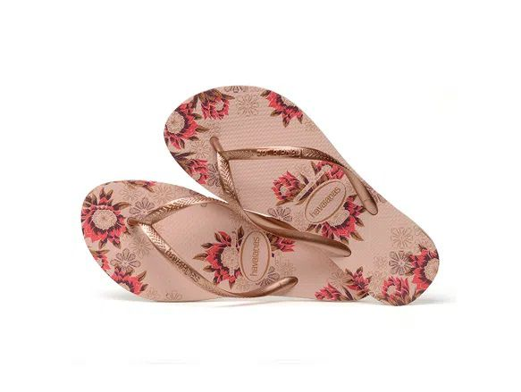 Chinelo Havaianas Feminino Slim Organic Rosa Ballet