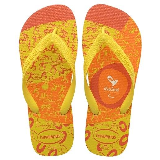 Chinelo Havaianas Unissex Top Esportes Rio 2016 Amarelo Cítrico