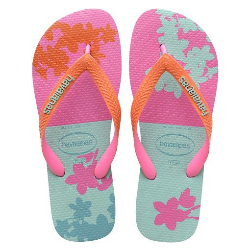 Chinelo Havaianas Feminino Top Fashion Ice Blue