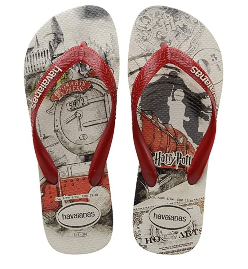 Chinelo Havaianas Unissex Harry Potter Bege Palha