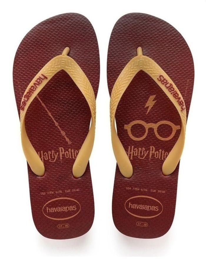 Chinelo Havaianas Unissex Harry Potter Vermelho Apache