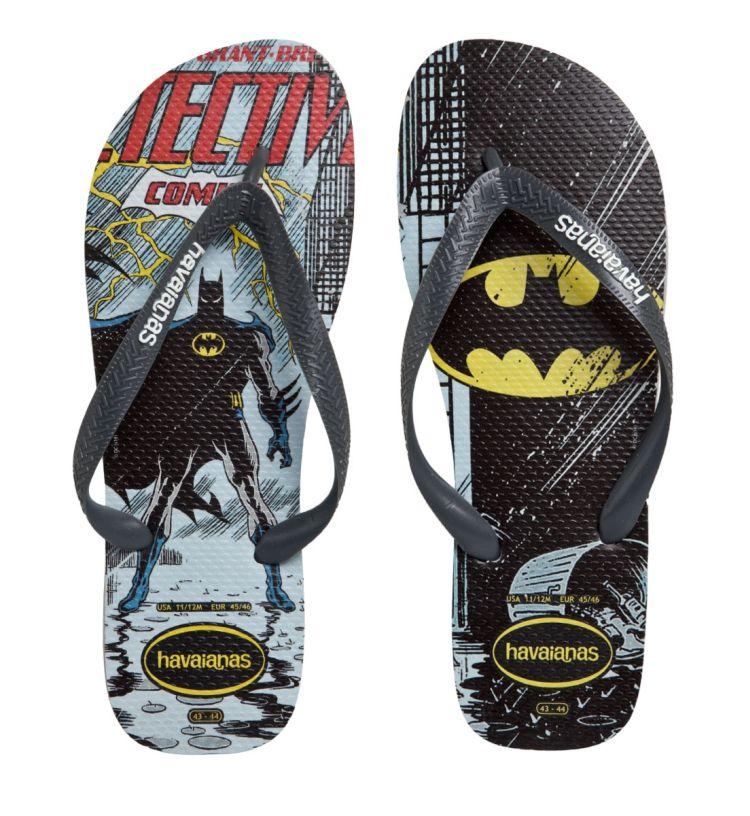 Chinelo Masculino Havaianas Heróis Batman Cinza Gelo