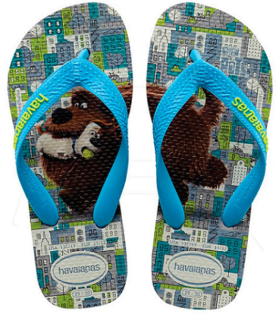 Chinelo Havaianas Infantil Kids Pets Movie Cinza Gelo
