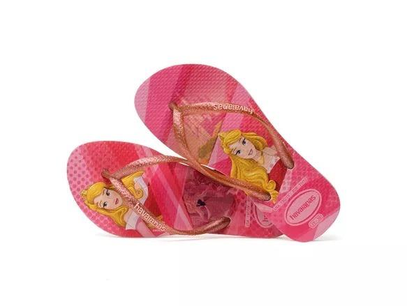 Chinelo Havaianas Infantil Kids Slim Princess Rosa