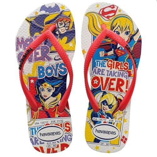 Chinelo Infantil Havaianas Mulher Maravilha Supergirl Arlequina Batgirl Kids DC SuperHero