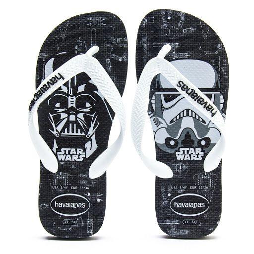 Chinelo Havaianas Infantil Star Wars Preto Branco