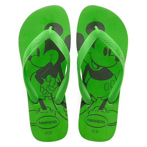 Chinelo Havaianas Infantil Top Disney Green Neon