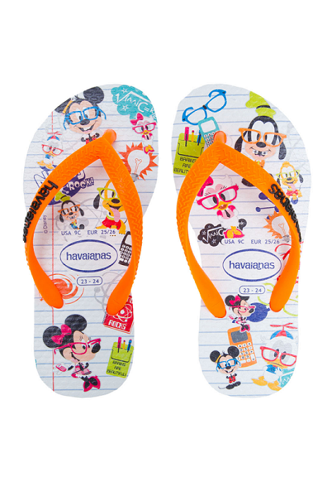 Chinelo Havaianas Kids Disney Cool Branco