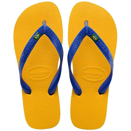 Chinelo Havaianas Masculino Bandeira Brasil Amarelo Banana
