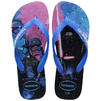 Chinelo Havaianas Masculino Star Wars Azul Estrela