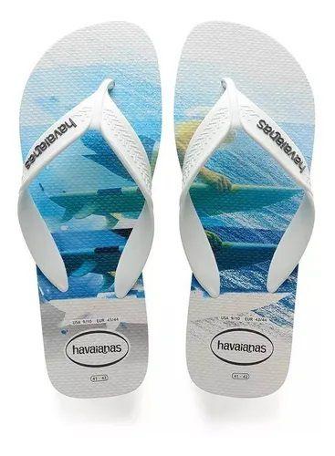 Chinelo Masculino Havaianas Surf Branco com Agua