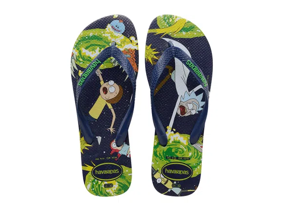Chinelo Havaianas Masculino Top Rick and Morty Marinho