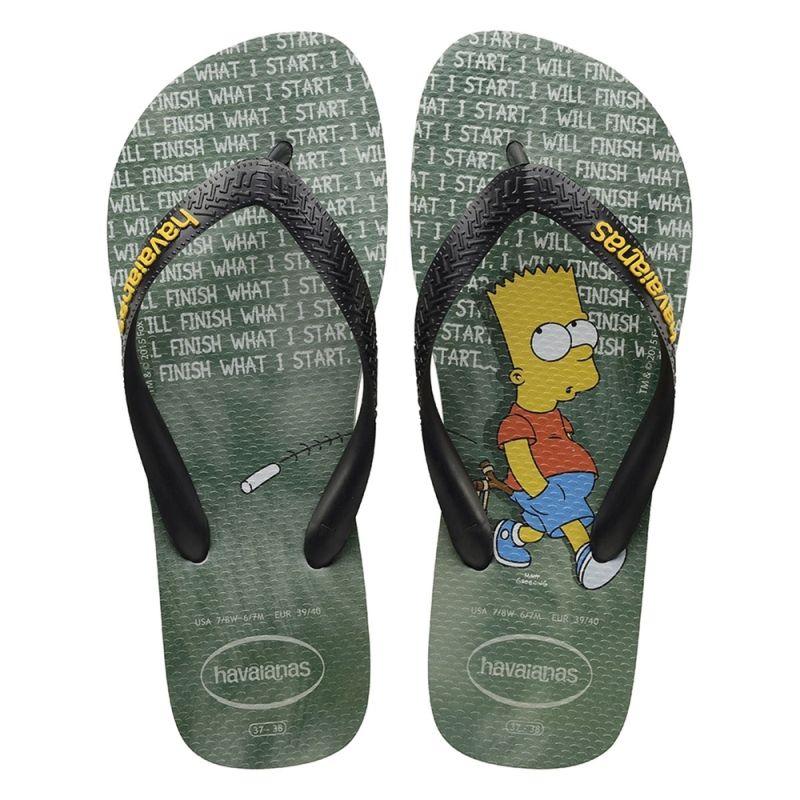 Chinelo Havaianas Masculino Os Simpsons Bart Cinza Gelo