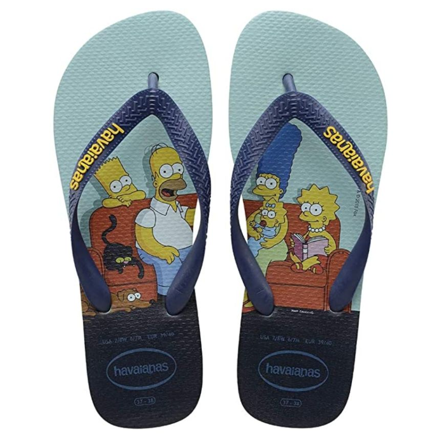 Chinelo Havaianas Unissex Os Simpsons Homer, Marge, Bart e Lisa