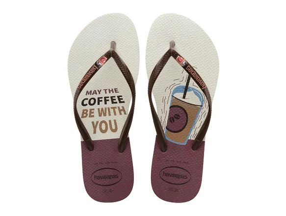 Chinelo Feminino Havaianas Café Slim Cool May the coffee be with you