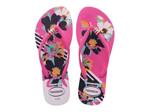 Chinelo Havaianas Slim Thematic Rosa Hollywood