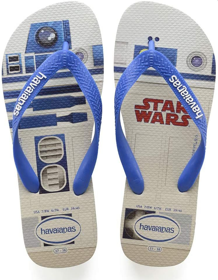 Chinelo Masculino Havaianas Star Wars Branco com Azul Estrela