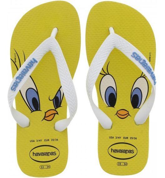 Chinelo Havaianas Unissex Looney Tunes Amarelo Citrico