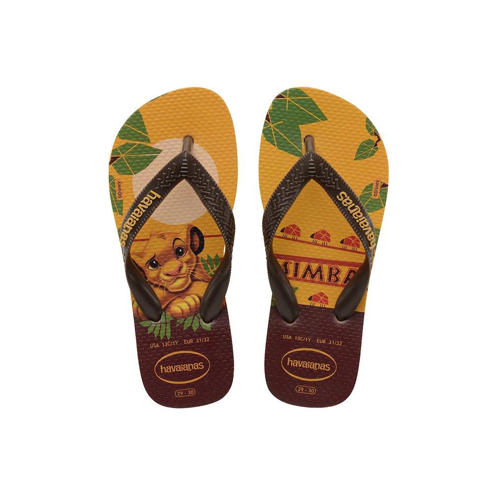 Chinelo Havaianas Unissex O Rei Leão Amarelo Banana