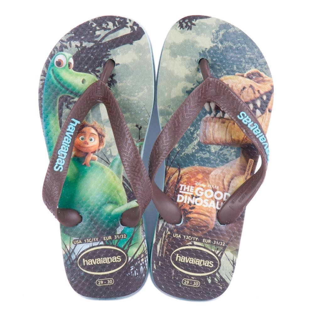 Chinelo Infantil Havaianas Kids Good Dino Dinossauro Verde Mentol