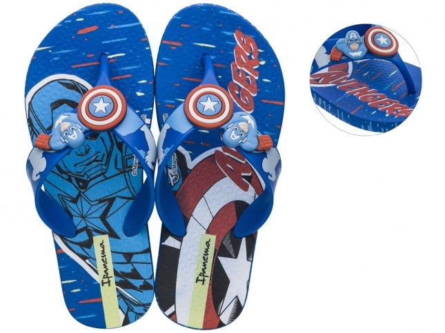 Chinelo Infantil Ipanema Avengers Combat Capitão America Azul/Azul/Vermelho - 26160