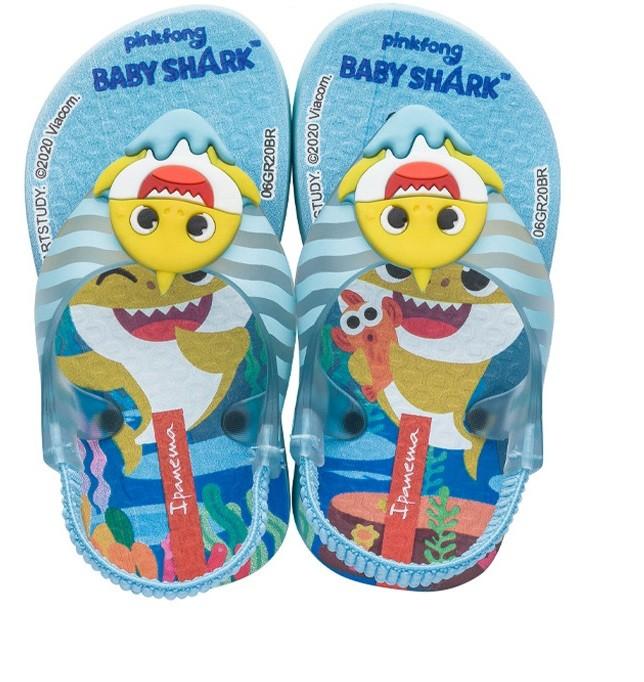 Sandália Infantil Ipanema Baby Shark Azul/Azul/Amarelo 26564