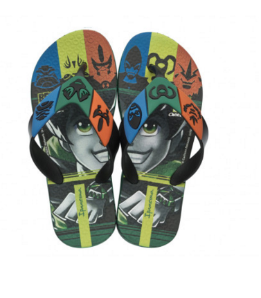 Chinelo Infantil Ipanema Ben 10 Power Verde/Preto