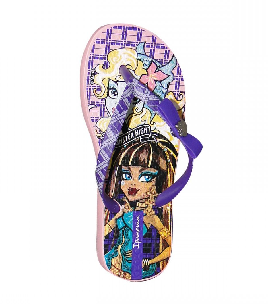 Chinelo Infantil Ipanema Monster High Rosa/Roxo
