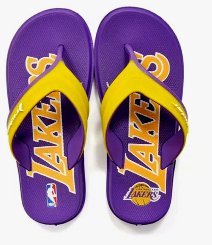 Chinelo Infantil Rider R Line NBA Lakers Roxo/Amarelo