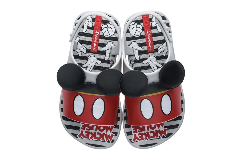 Chinelo Ipanema Bebê Disney Style Mickey Cinza/ Vermelho/ Preto