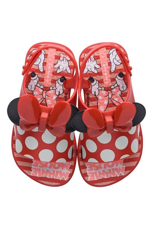 Chinelo Ipanema Bebê Disney Style Minnie Vermelho/ Rosa