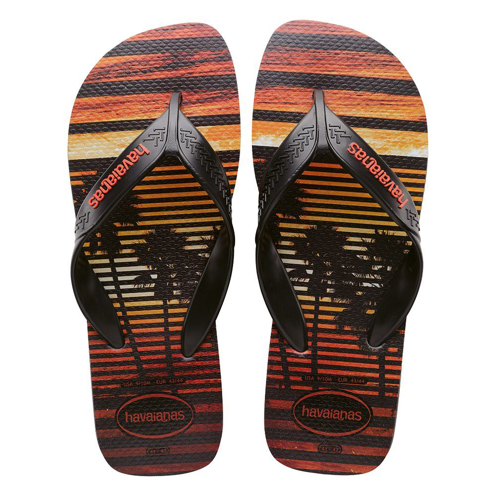 Chinelo Havaianas Masculino Surf Cinza Chumbo e Preto