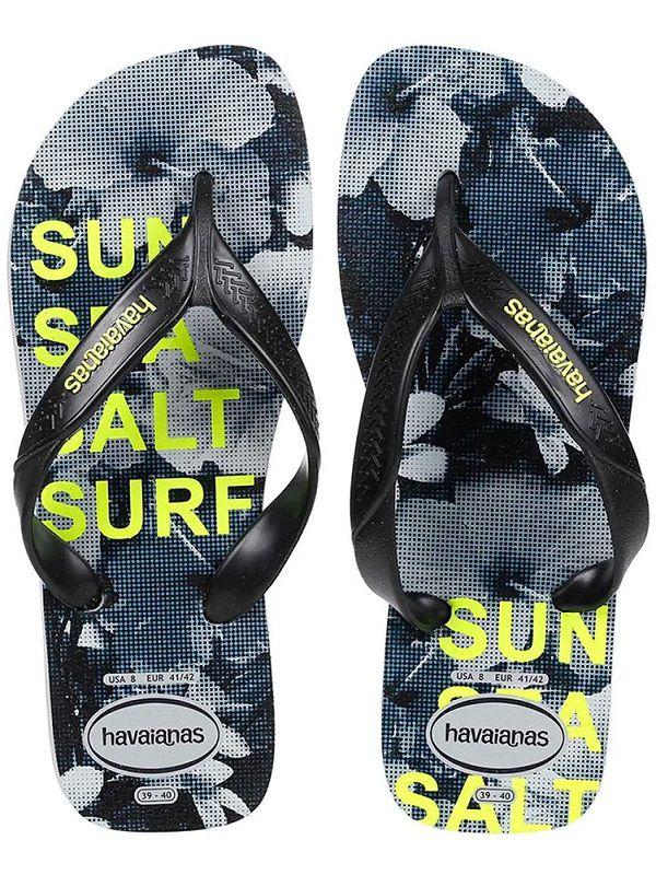 Chinelo Masculino Havaianas Surf Cinza e Preto
