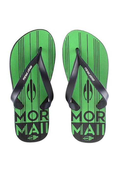 Chinelo Mormaii Masculino Tropical Graphics Azul com Verde