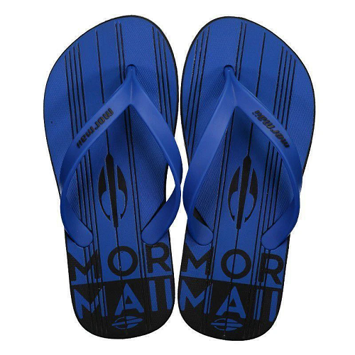 Chinelo Mormaii Masculino Tropical Graphics Preto Azul