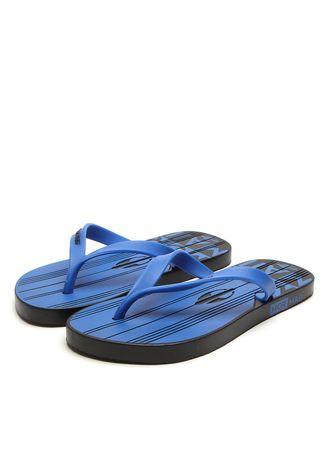Chinelo Mormaii Masculino Tropical Graphics Preto Azul