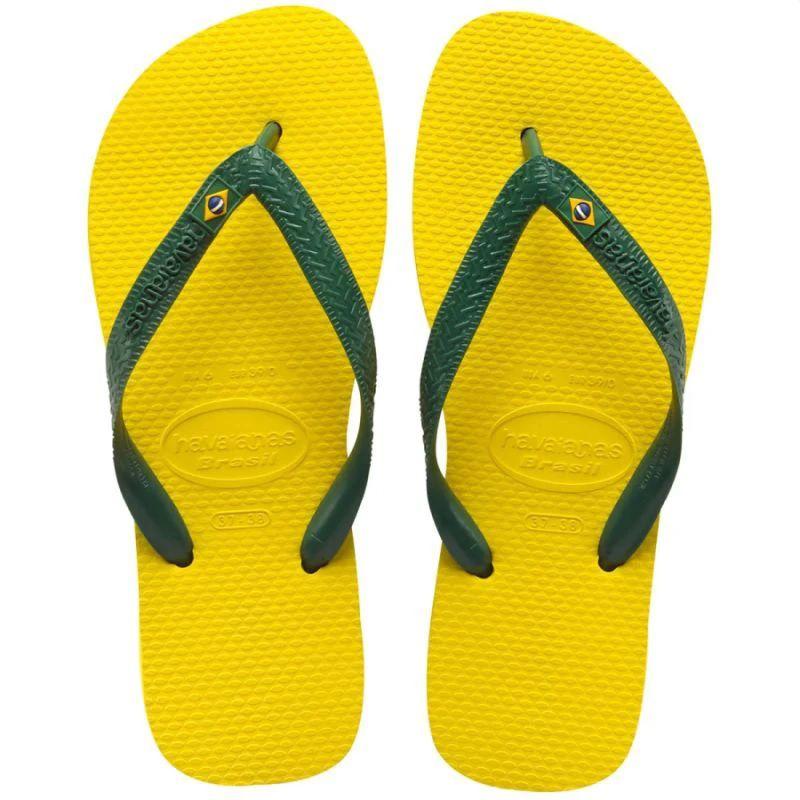 Chinelo Havaianas Unissex Brasil Amarelo Citrico