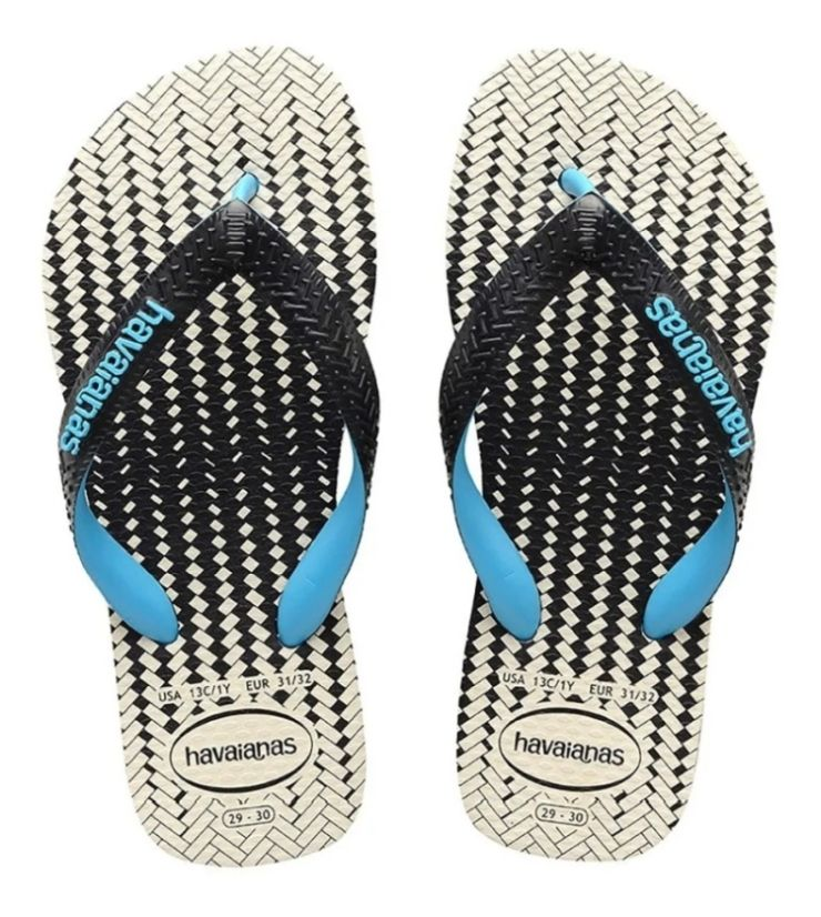 Chinelo Havaianas Unissex Top Optical Zig Zag Preto / Branco / Preto