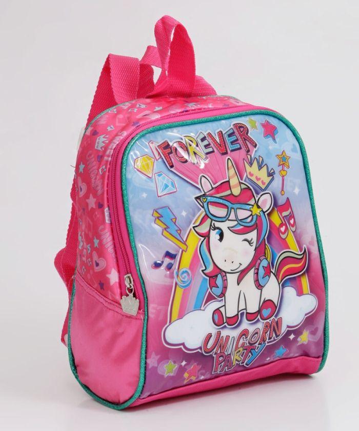 Lancheira Infantil Unicórnio Party Rosa - Clio UN2037