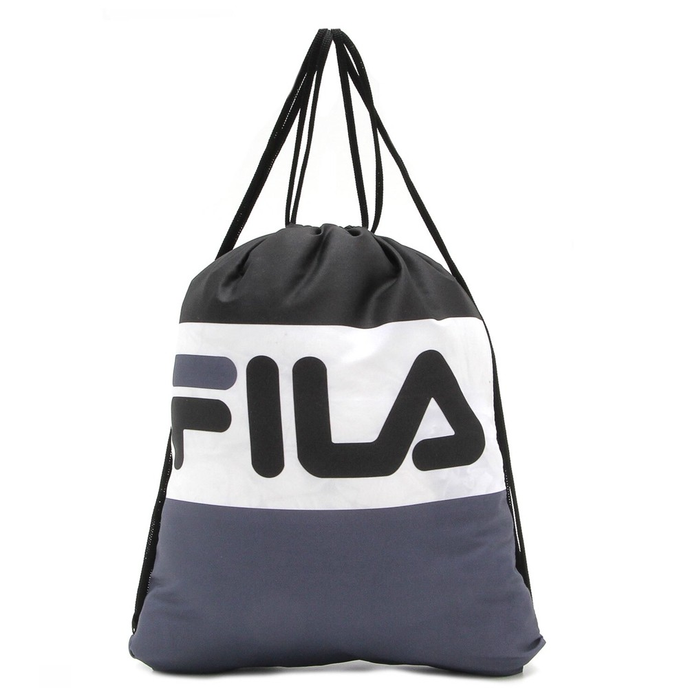 Gym Sack Sacola Esportiva Fila Flag Preto/Branco/Cinza LS560008