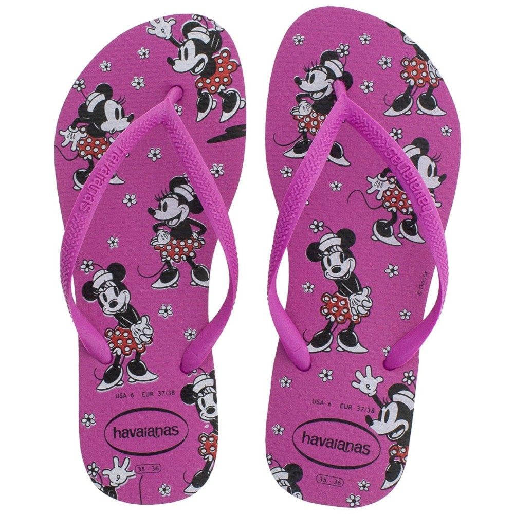 Havaianas Chinelo Feminina Slim Disney Minnie Mouse Ice Pink