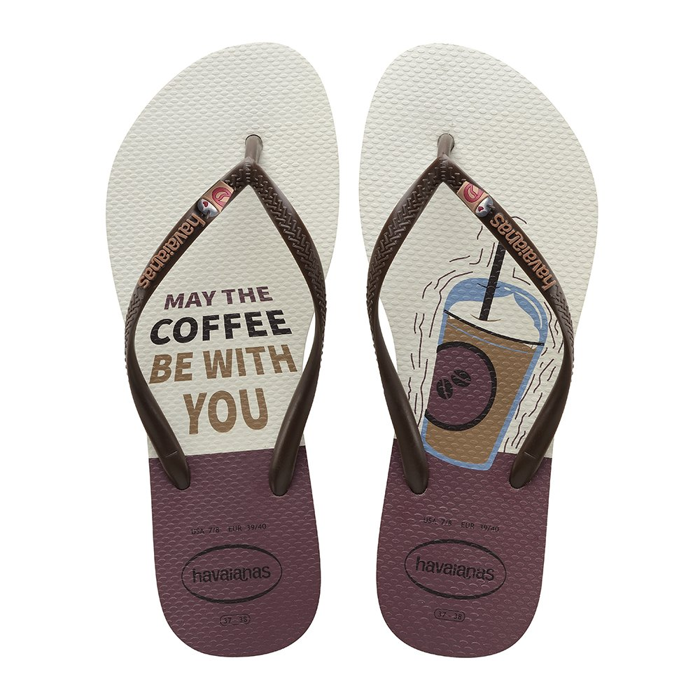 Havaianas Chinelo Feminino Café Slim Cool May The Coffee Be With You