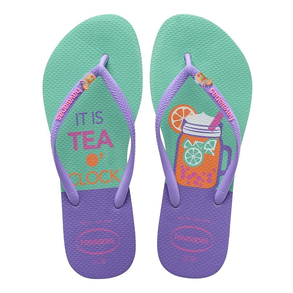 Havaianas Chinelo Feminino Slim Cool Hora do Chá It's tea o'clock